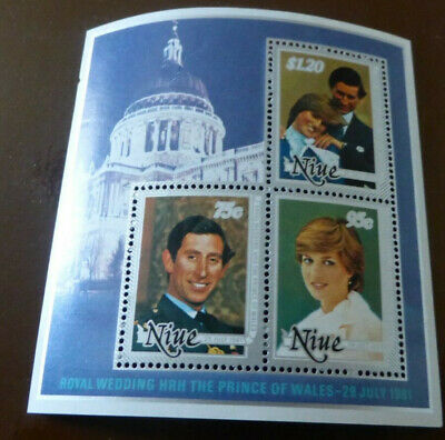 Royal Wedding HRH The Prince Of Wales 81 3x Australia stamps  Lady Diana Spencer