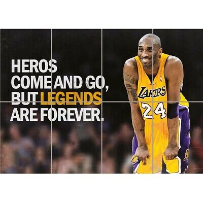 Heroes NBA Basketball Kobe Bryant Los Angeles Lakers Giant Print Poster