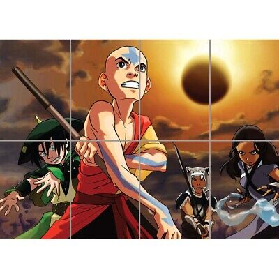 Avatar The Last Airbender Giant Wall Mural Art Poster Print 47x33 Inches