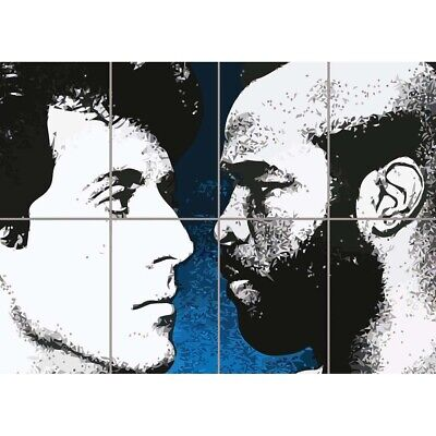 Rocky Balboa Vs Clubber Lang Giant Wall Mural Art Poster Print 47x33 Inches