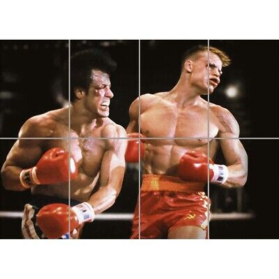 Rocky Iv 4 Balboa Huge Wall Poster Art Picture Print Wall Mural 47x33 Inches