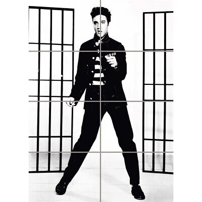 Music Vintage Photography Elvis Presley Jailhouse Rock Wall Art Poster 33X47""