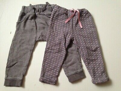 john lewis 2  pairs girls trousers size 18-24