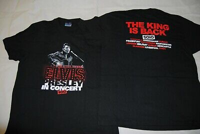 Elvis Presley In Concert The King Is Back 2010 Tour T Shirt New Official Rare