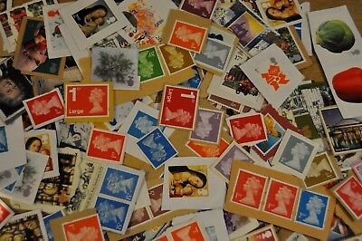 £110+ Face Value GB Unfranked Stamps 1st and 2nd Class Stamps On and Off Paper