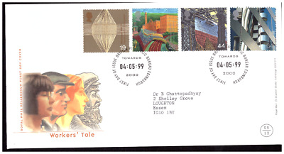 GB 2000 Millennium WORKER'S TALE FDC First Day Cover Commemorative Stamps