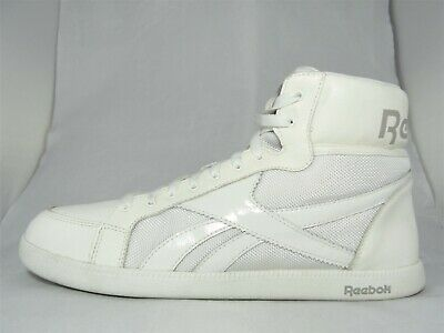 Reebok Mens Classic Leather Clip Trainers Lace Casual Sports Shoes Footwear WhiteGrey UK 9.5(44)