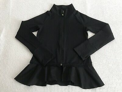 Girls Limeapple Black Sports Jacket 14 Years With Frill