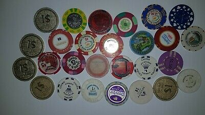 Mixed Real Casino Poker Chips Lucky Collectable