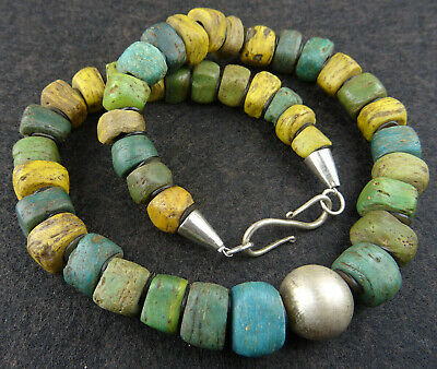 Sudan Darfur Old Hebron Beads Silber Halskette Kano Beads Necklace Collier