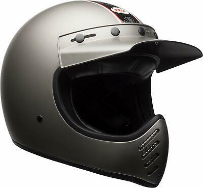 cd867ca0 Bell Moto-3 Independent Matte Titanium Full Face Helmet NEW IN BOX FREE  SHIPPING