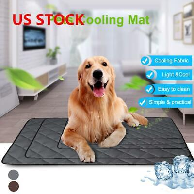 Pet Cooling Mat Pad Gel Cooler For Dog Soft Crate Bed Comfy Chilly Beds US F1