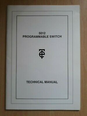 TIME Electronics 5012 Programmable switch Technical Manual