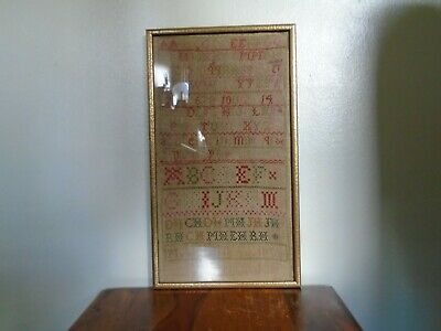 A Victorian Framed and Glazed Sampler by Margert.aged 10.