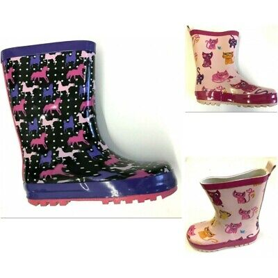 Girls Boys Rubber Wellington Wellies Rain Wellys Waterproof Snow Boots