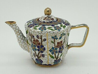 Chinese Cloisonné Tea Pot with Cover