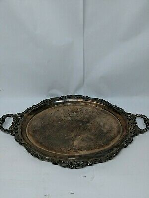 """Baroque by Wallace Silverplate Tray #293 23.5"""" x 14 3/4""""."""