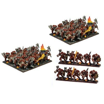 Kings of War 50 Salamander army - unboxed Mantic WHFB lizardmen saurus regiment