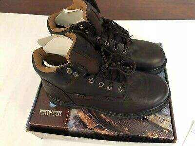 5ae9aa33f95 SCHMIDT MEN'S WORK Boots CES001TS Brown Leather Heavy Duty Size 11 M ...