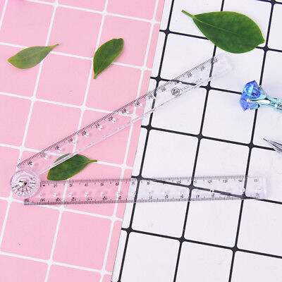 clear plastic acrylic folding straight rulers 30cm drawing kid school supply LY