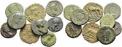 FORVM Lot of 9 Ancient Roman Provincial Bronze Coins Interesting Reverse