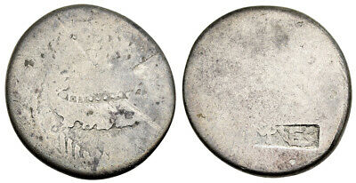 FORVM Mark Antony Legionary Denarius with Vespasian Countermark from Ephesus