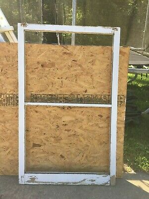 "Wood Window Rustic Antique Vintage Farmhouse Wedding Decor Art 55""X34"", 2 Pane"