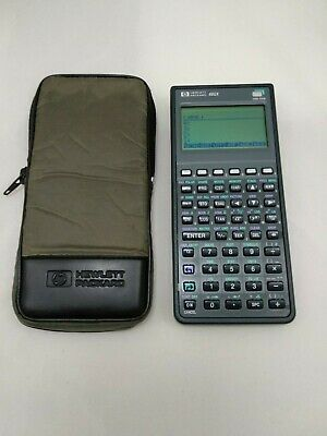 Calculadora HP 48GX con funda # 545 Hewlett Packard