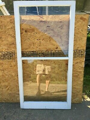 "Wood Window Rustic Antique Vintage Farmhouse Wedding Decor Art 54""X28"", 2 Pane"