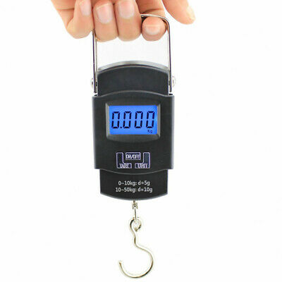 50KG/10G Pocket Portable Mini Digital Fish Hanging Luggage Weight Hook Scale