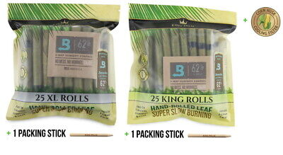 50 x King Palm Leaf Blunt Wraps Variety Size (25 XL 25 KING) Authorized Seller