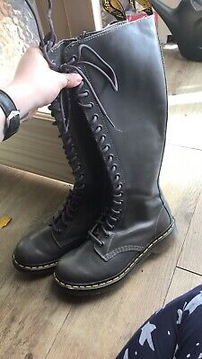 Dr MARTENS UK 5 EU 38 zip 20 hole 1B60 knee high (never worn) Goth Festival Punk