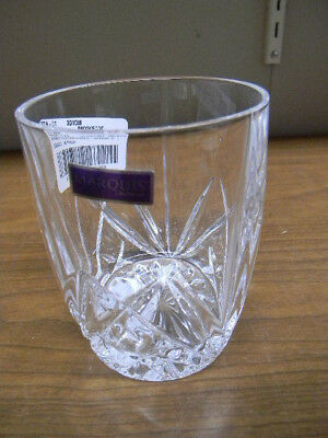 """4 Waterford Crystal """"Brookside"""" Pattern Oversize Double Old Fashions 4 1/4"""" Tall"""