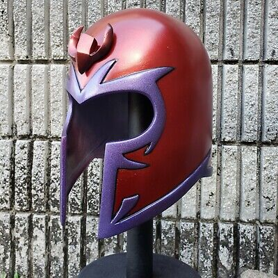 Classic Magneto Inspired Helmet With Crest Life Size Wearable Costume Deluxe HTF
