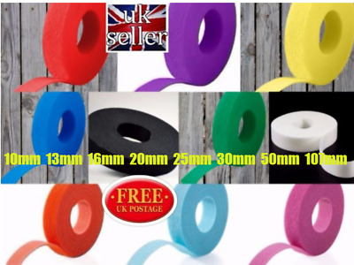 Velcro One-Wrap Double Sided Ties /Different Colours /Widths (Cable Management)