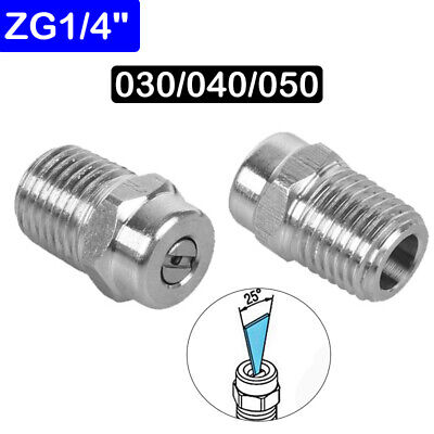 "High Pressure Jet Spray Nozzle 1/4"" bsp Steel - 1.07/1.2/1.35mm /25° Fan Width"