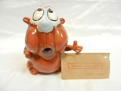 KREISS PSYCHO CERAMICS bROWN GUY WITH TAG