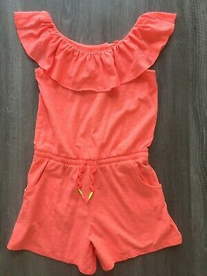 Girls Next Lovely Orange Summer Playsuit Short Outfit 7 Years