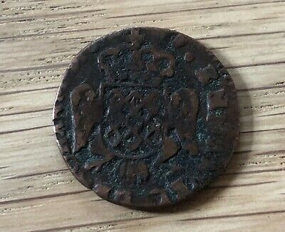 1716 Malta 10 Grani Copper Coin - Ref  324