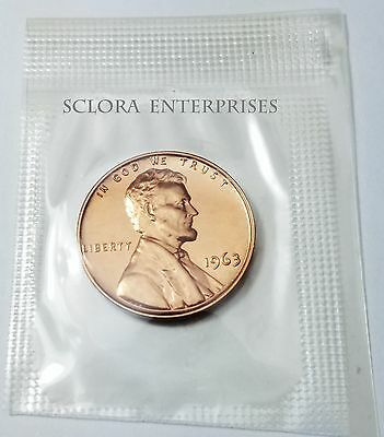 1963 Lincoln Memorial Cent /  Penny *Proof* **Free Shipping**