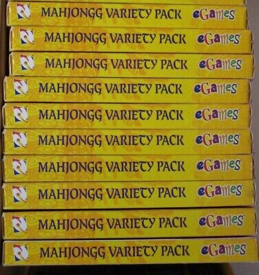 Video Game PC Wholesale Lot of 10 Mahjongg Variety Pack 9 Unique Games NEW