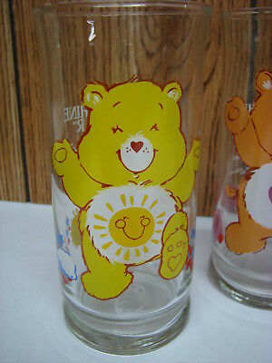 "Vintage 1983 Care Bears ""Funshine Bear""Pizza Hut Limited Edition Promo Glass"