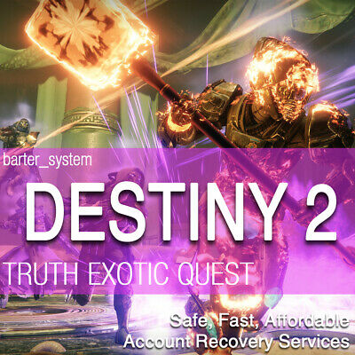 PS4 Destiny 2 TRUTH exotic Rocket Launcher FULL QUEST