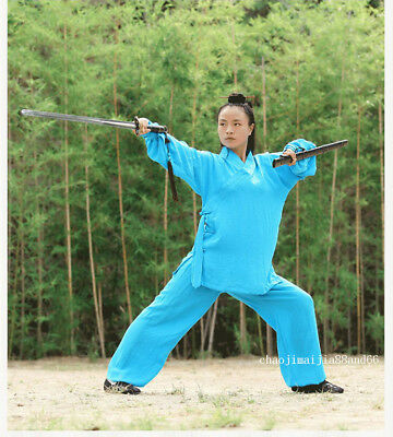 70b3607a0 China Wudang Taoist Suit Kung Fu Tai Chi Martial Arts Wu Shu Surplices  Uniform