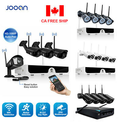 JOOAN 4CH WiFi HDMI NVR 4X 1080P Wireless IP Security Camera System Outdoor Kit