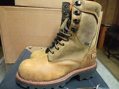 26e6eac0bce TIMBERLAND PRO 1026A Rip Saw 9 inch Waterproof Steel Toe Men's Logger Boot  8.5 M