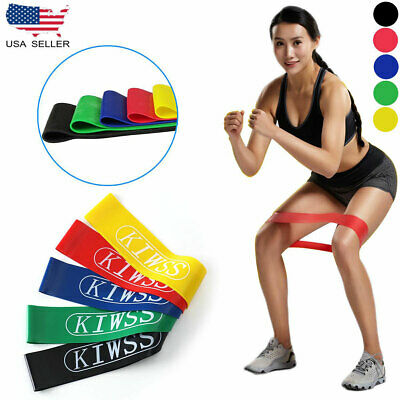 4Pcs Heavy Duty Resistance Band Loop Exercise Yoga Power Gym Fitness US Ship