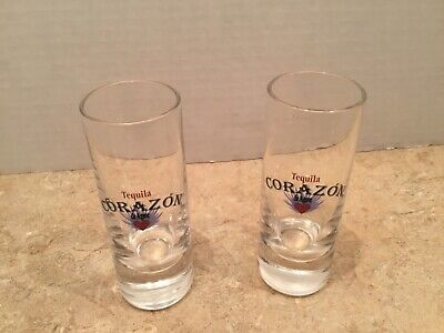 """TEQUILA CORAZON DE AGAVE HEART LOGO  TEQUILA  SHOT GLASS  ABOUT 4/"""""""
