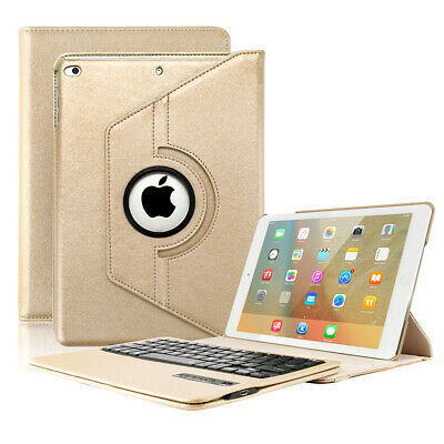 360 Swivel PU Leather Case Cover with Thin Bluetooth Keyboard Folio Combo Case