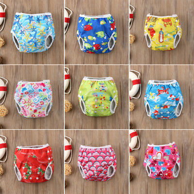AU Cartoon Swim Nappy Diaper Leakproof Reusable Adjustable Baby Infant Boy Girl